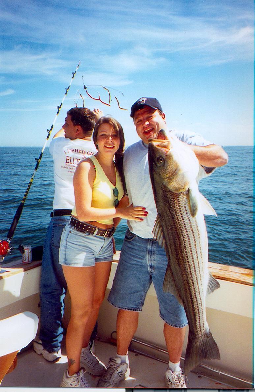 Fishing for striped bass blue water sport fishing for Fishing trips long island