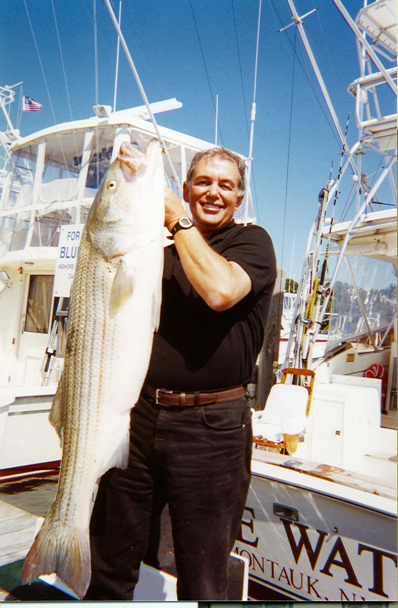 Fishing for striped bass blue water sport fishing for Fishing trips nyc